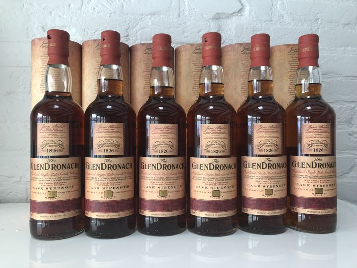 6 bottles - Glendronach Cask Strength series - batch 1-6