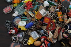 Collection of 1095 key chains