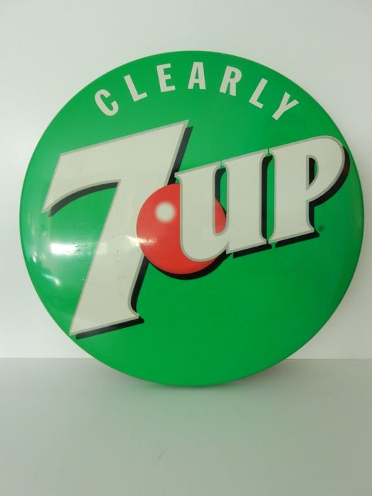 Tin advertising sign - 7up