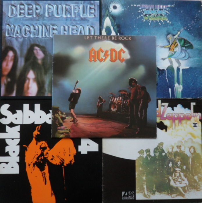 Deep Purple - Led Zeppelin - Black Sabbath - Uriah Heep - AC/DC