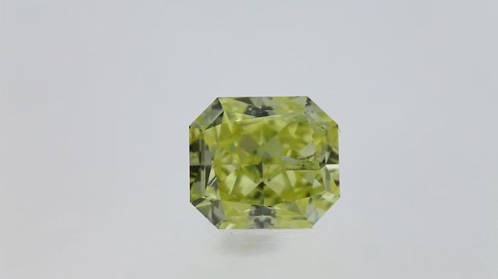 1.02ct Radiant Cut Diamond Fancy Yellow