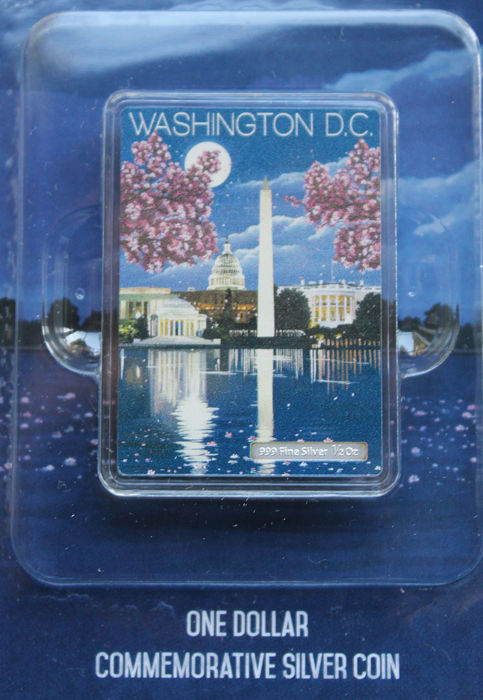 Niue - 1 Dollar 2015 'Vintage Mini Posters - Washington D.C' - Silver