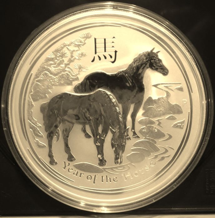 Australia - 10  Dollar 2014 Year of the Horse - 10 Oz - Silver