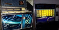 Lot of 2 jukeboxes consisting of a Wurlitzer 3500 Zodiac and a Rockola 480 Techna
