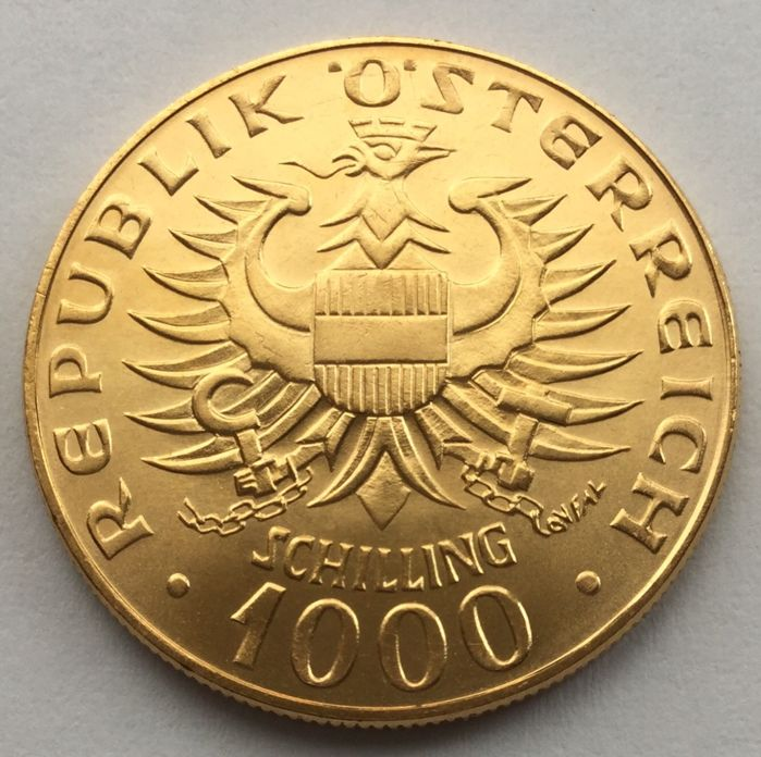 Austria - 1000 Schilling 1976 'Appointment of the Babenberger' - gold