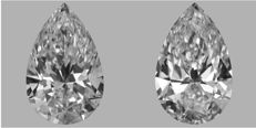 Pair of Pear Shape Diamonds 1.00 ct total DIF GIA - Low Reserve Price - #366-367