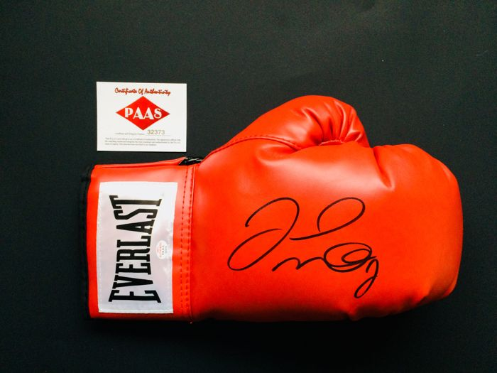 Floyd Mayweather - Authentic & Original Signed Autograph in a Red Boxing Glove - with Certificate of Authenticity PAAS