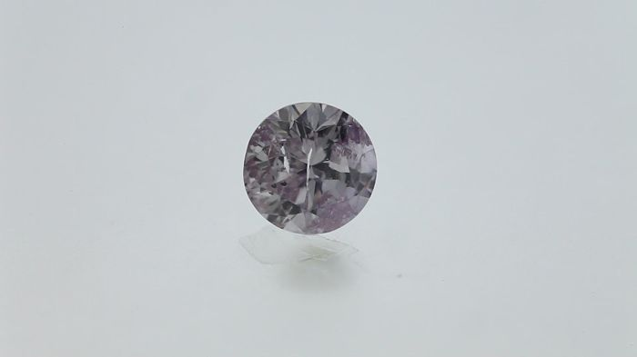 0.36ct Natural Round Cut Diamond Fancy Light Purplish Pink