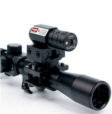 Rifle scope 4 x 20 with red laser
