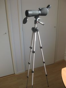 BRESSER Spektive/Spotting Scope 20-60 x 60 with MANFROTTO 390 tripod and a small table tripod.