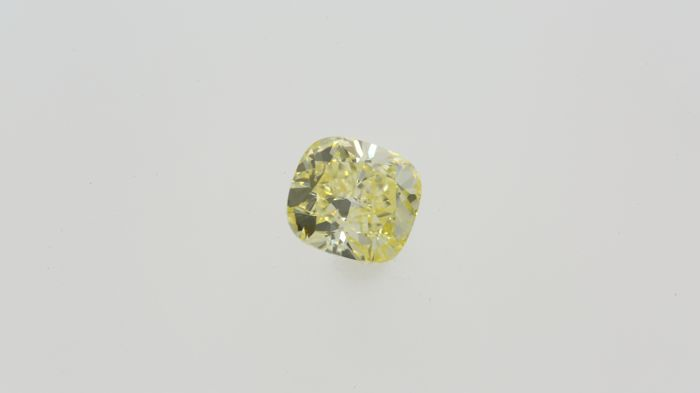 0.70ct Cushion Cut Diamond Fancy Yellow VVS2