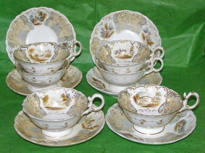 Rockingham 'English Countryside' tea set for six people