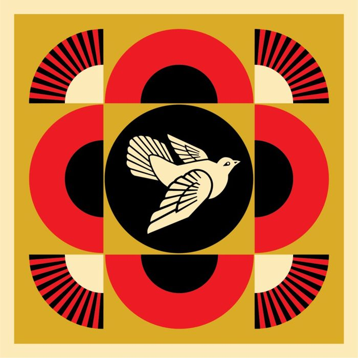 Shepard Fairey (OBEY) - Dove Geometric Gold
