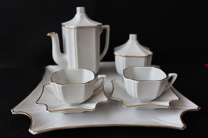 Firenze Porcelain coffee set - No reserve price
