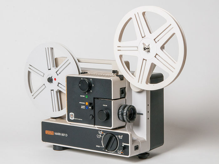 Eumig Mark 607 D film projector with Revue Control L Viewer