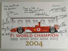 Ferrari F1 World Champion 1999 - 2004 poster