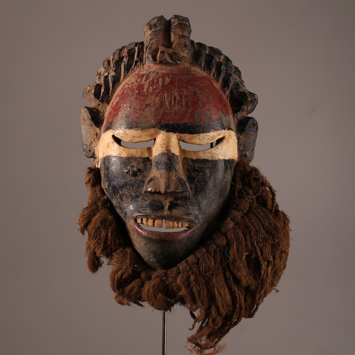 Extraordinary old Dan Wobe Mask  - Ivory Coast