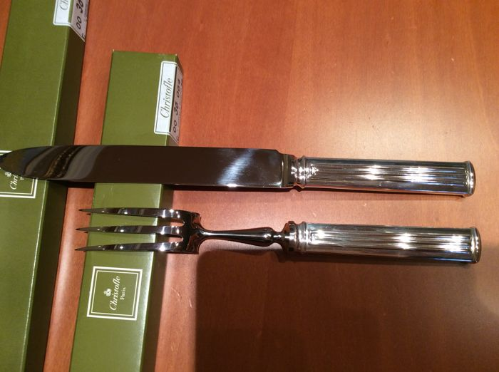 Christofle, model: Triade - carving fork and knife