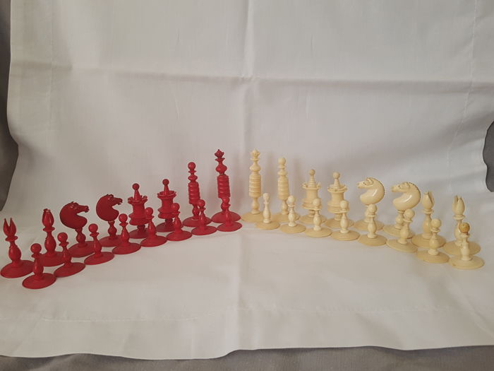 Ivory set of chess ,