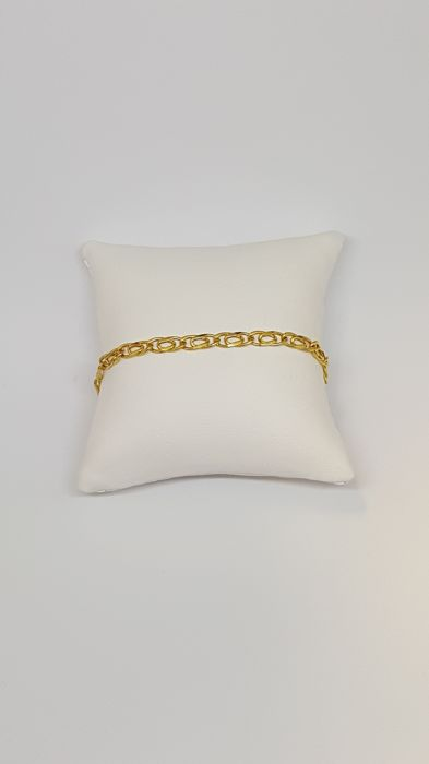 18 kt yellow gold bracelet - Weight: 4.2 g - Length: 20 cm
