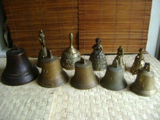 10 copper/bronze table/ship bells