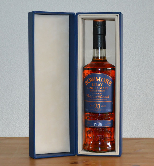 Bowmore 1988  21 years old Port Wood Matured - OB