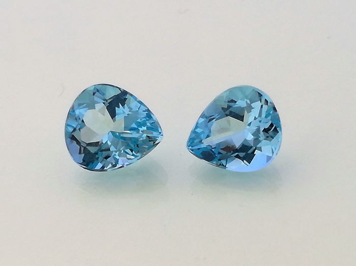 Two Aquamarines - Total weight 2,76 ct