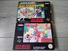 Lot of 2 SNES games (PAL) - Super Mario Allstars & Krusty's Super Fun House - both games complete in box