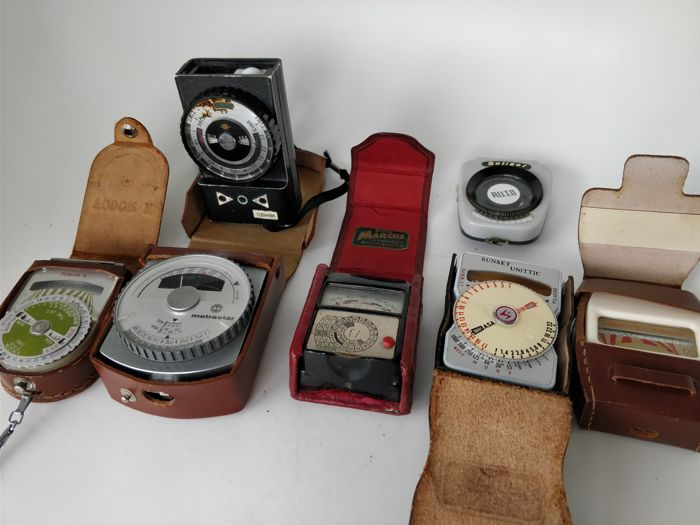 Collection of 7 light meters