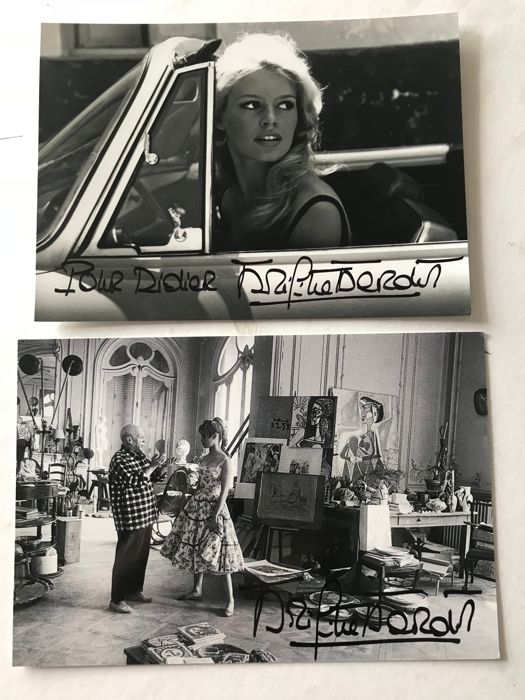 Jerome Brierre / Life, Brigitte Bardot with Pablo Picasso in Cannes , and other BB photo.