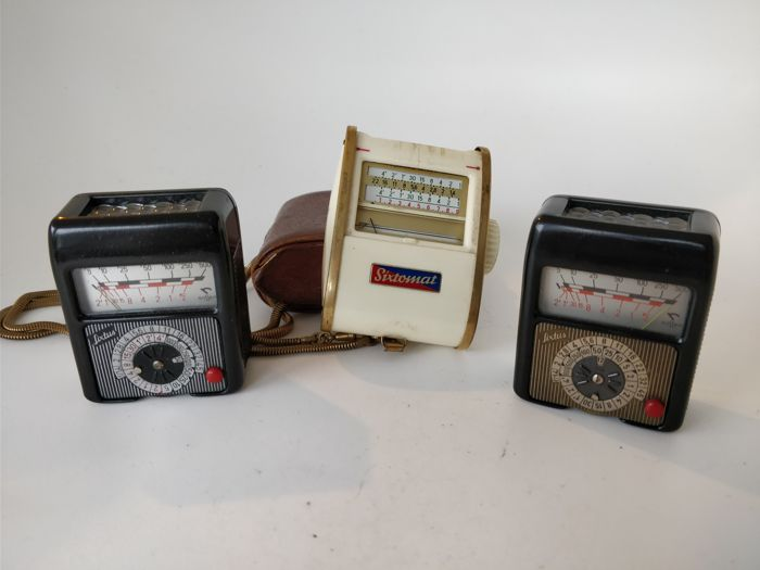 Collection of 3 Gossen light meters