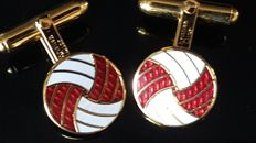 Christian Dior exquisite enamel cuff links - Vintage