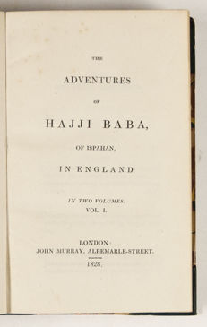 James Morier - The Adventures Of Hajji Baba Of Ispahan In England - 2 volumes - 1828