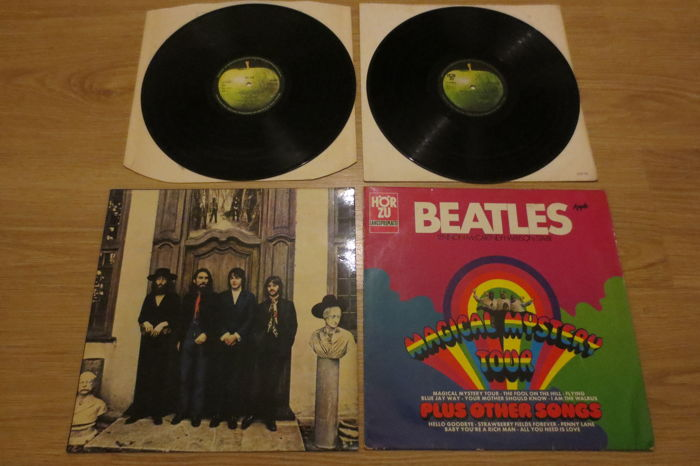 "The Beatles - 2 LP Albums :  - ""Hey Jude""  and ""Magical Mystery Tour"" ( German press with a different cover!)"