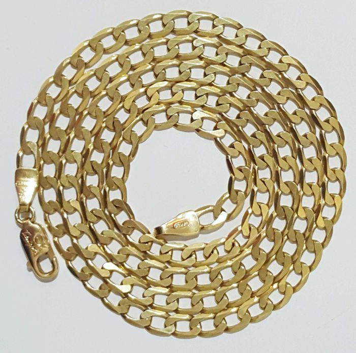 Chain in 18 kt gold. solid, weighing 9.78 g and measuring 52 cm