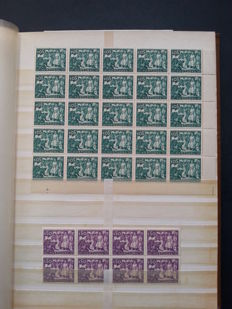 Portugal, 1947–1971 - Selection of 520 stamps in blocks of four and larger groups