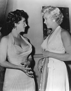 Phil Burchman/Photofest & Michael Ochs archive - Marilyn Monroe and Gina Lollobridgida, 1950's