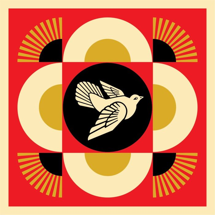 Shepard Fairey (OBEY) - Shepard Fairey - Dove Geometric Rouge