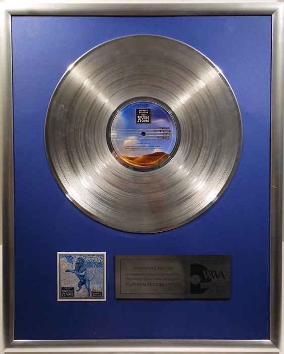 """The Rolling Stones - Bridges to Babylon - 12"""" Stones Record platinum plated record by WWA Awards"""