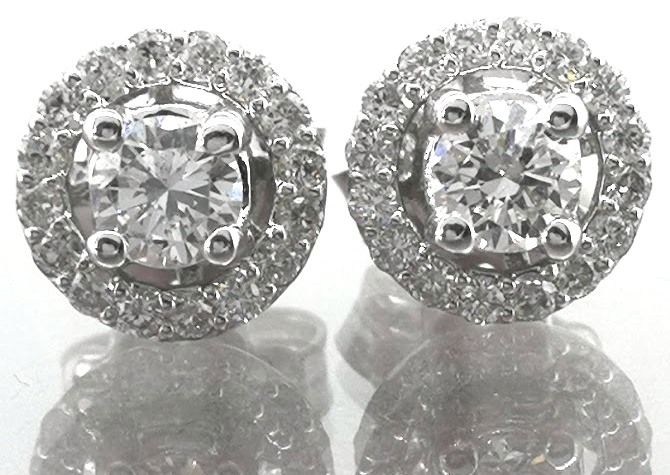 Day & Night earrings set with brilliant cut diamonds, 0.74 ct in total *NO RESERVE PRICE*
