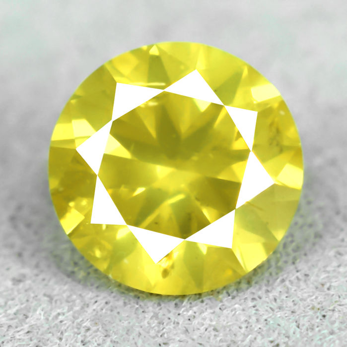 Intense Yellow Diamond - 0.78 ct