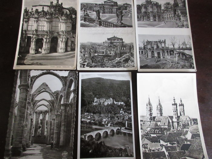 93 * Lot with postcards of different villages and towns - Germany,Austria,Switzerland, England, Paris ect  ca.  1929-60