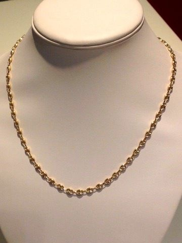 18 kt gold necklace with mariner link - Weight: 14.50 g