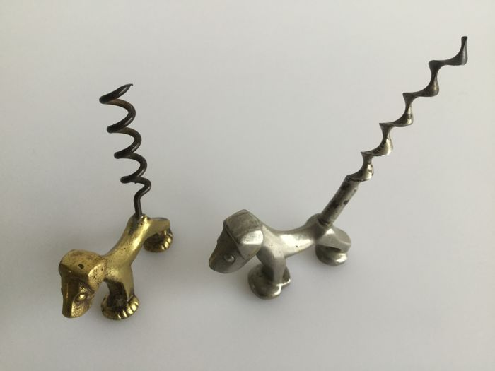 Collection: Walter Bosse for Hertha Baller - brass and metal Corkscrew Dogs