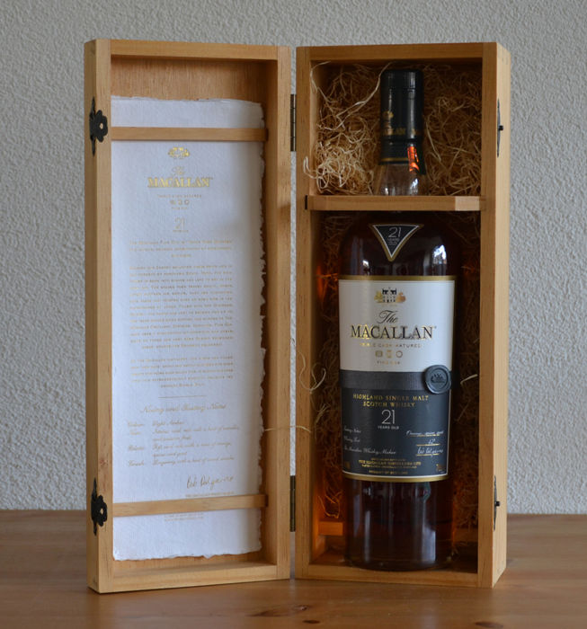 Macallan Fine Oak 21 Year Old Single Malt Scotch Whisky