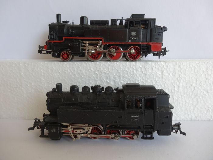 Märklin H0 - 3032.2/3095.3 - Steam locomotive - BR 81 en BR 74 - DB
