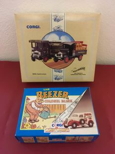 Corgi - Scale 1/43 - Lot with 2 sets and 3 models: Whitbread & The Beezer