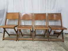 Gebroeders Bouter Rotterdam/The Hague – vintage folding chairs (4 pieces)