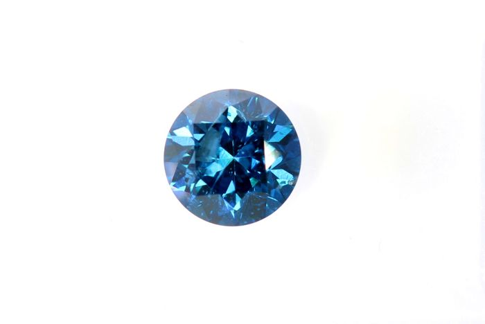 Fancy Blue Diamond - 0.33 ct - I1