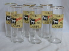 White Horse, Set of 6 high vintage whisky glasses